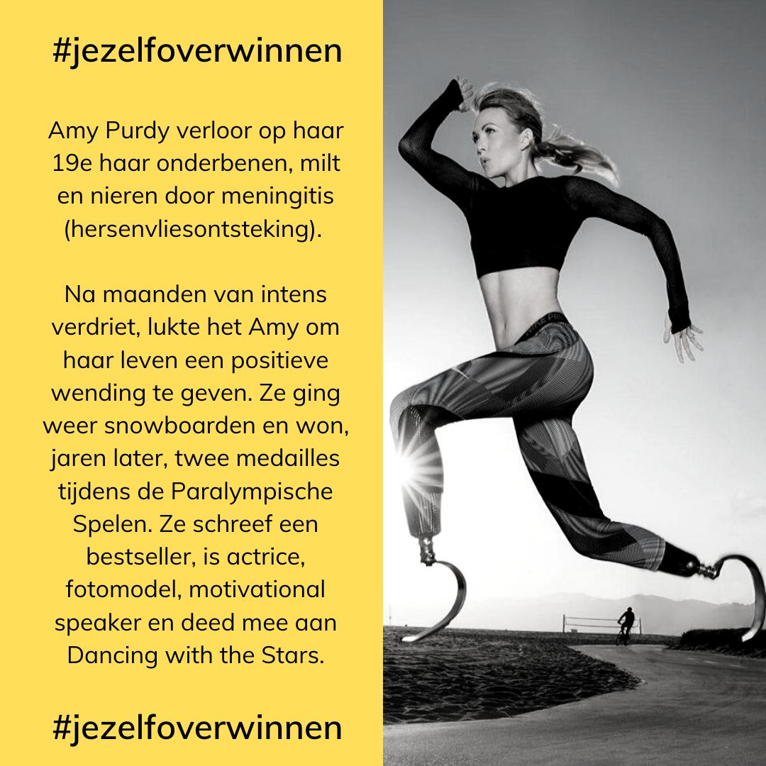 Amy Purdy hardlopen